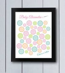 birthday signing board as a button sign in board printable pdf baby shower