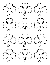 small shamrock pattern use the printable outline for crafts