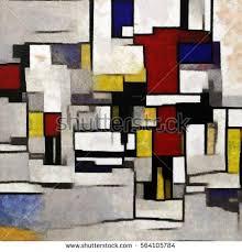 cubism colours primitive cubism minimalist story colours stock illustration