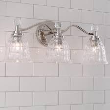 faceted glass vanity light 3 light shades of light