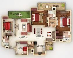 4 bedroom double wide floor plans d floor house plans bedroom and double garage ideas 3d 4 2017