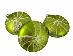 mint green ornaments