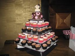 baby shower cupcake tower pink and brown baby shower cupca u2026 flickr