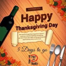 countdown to thanksgiving 1 day to go payitforwardrealty