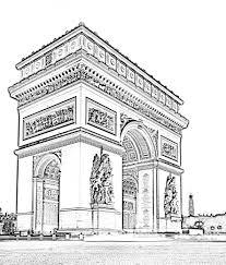 free coloring page coloring paris arc triomphe the arc de