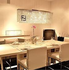siljoy modern crystal chandelier dining room rectangular