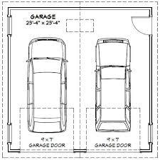 garage dimensions best standard car garage door size home desain image for of two