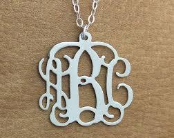 Monogram Necklace Silver Best 25 Monogram Necklace Silver Ideas On Pinterest Monogram