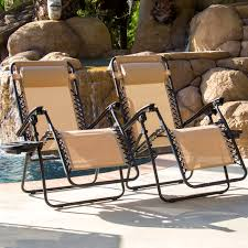 Chair Care Patio by Zero Gravity Chairs Case Of 2 Tan Lounge Patio Chairs Outdoor