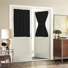 Amazon Door Curtains Amazon Com Aquazolax Solid Thermal Insulated Blackout French Door