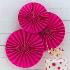 Neon Themed Decorations Pinwheel Fan Decorations Neon Pink Neon Birthday Ginger Ray