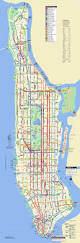 New York Manhattan Map Large Scale Detailed Bus Routes Map Of Manhattan Nyc New York
