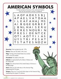 american symbols word search presidents day first grade and