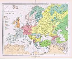 Religious Map Of Europe by Map Of Russia 1880 1880 Ethnographic Map Of Europe My Family