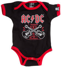 Baju Ac Dc baby rock onesies baby band rompers for babies