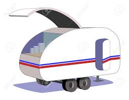 Teardrop Trailer Plans Free by Teardrop Trailer With Kitchen Hatch Open Royalty Free Cliparts