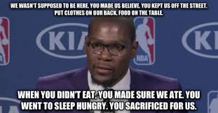 Kevin Durant Memes - kevin durant talks about his mom during mvp speech weknowmemes