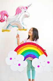 Costumes For Kids Hello Wonderful Diy Happy Cardboard Rainbow Costume For Kids