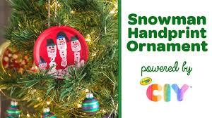 diy snowman handprint ornament crayola ciy create it yourself