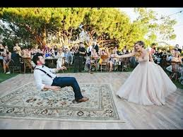How Do You Spell Backyard Bride Puts A Spell On Her Magician Groom During First Dance Youtube