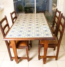 spanish tile top dining table with chairs ebth