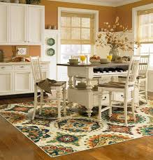 dining table with rug underneath rugs for a kitchen is it really a good idea