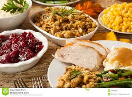 thanksgiving turkey meal homemade turkey thanksgiving dinner stock photography image