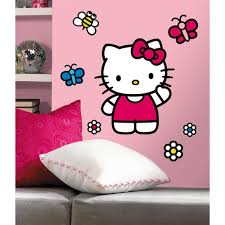 hello kitty the world piece hello kitty the world piece peel and stick giant wall decals