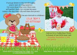 teddy bear invitations for 1st birthday invitations ideas