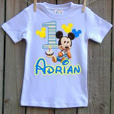 mickey mouse 1st birthday shirt artfire markets