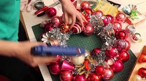 kate makes a vintage ornament wreath kitschmas krazy krafty