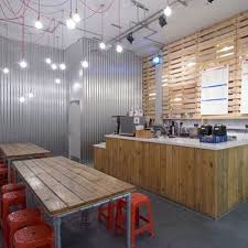 small restaurant with simple interior design various kinds of