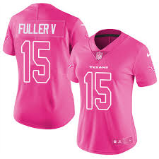 nike texans 15 will fuller v pink women s stitched nfl limited rush