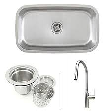 kitchen sink and faucet combo 30 inch stainless steel single bowl kitchen sink and lead free