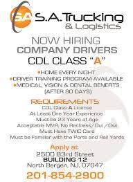 careers sa trucking