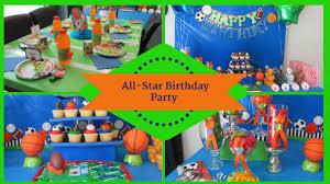 Sports Allstar Birthday Party Dollar Tree Inspired