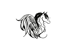 tribal horse tattoo free designs pretty horse with wings