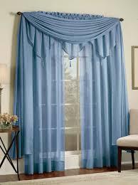 Blue Sheer Curtain Reverie Snow Voile Curtains Blue Lorraine Casual Curtains