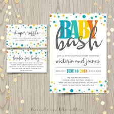 Shrimant Invitation Card Baby Bash Couples Co Ed Baby Shower Invitation Card Baby Boy