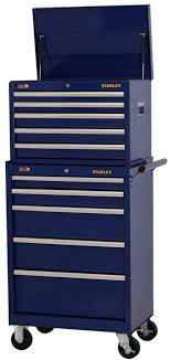 stanley tool chest cabinet stanley 10 drawer tool chest top box rolling bottom storage cabinet