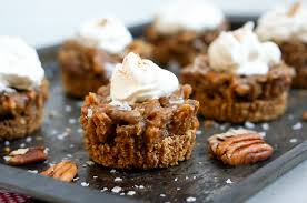 healthy pecan pie with salted caramel sprouted routes