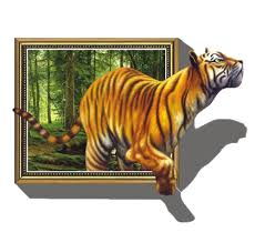 amazon com kappier giant 3d tiger jumping out of jungle peel amazon com kappier giant 3d tiger jumping out of jungle peel stick wall decals home improvement