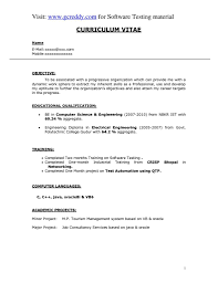Software Testing Resume For Experienced Qtp Tester Resume Resume Ideas
