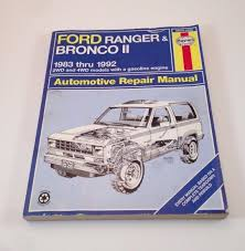 28 1992 ford ranger owners manual 12943 shop manual service