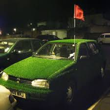 Car Antenna Flags My Mate Astro Turfed His Vw Golf And Uses A Golf Flag As The