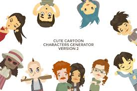 cute cartoon avatars and characters generator 2