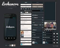 android gui designer lookamore ui kit android ui kit android ui and mobile ui