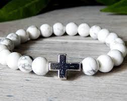 beaded bracelet with cross images Mens cross bracelet black onyx beaded bracelet with cross jpg