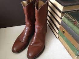 mens leather riding boots for sale mens boots vtg justin cognac brown leather roper riding boots size