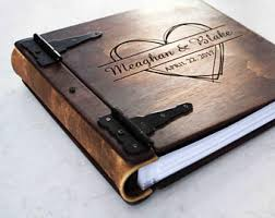 leather photo albums engraved wedding guest books albums journals signs by rusticengravings